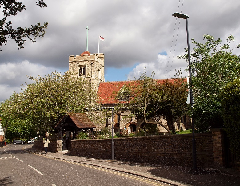 St John the Baptist Pinner from Church Lane