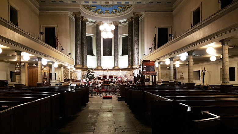 St Pancras New Church interior